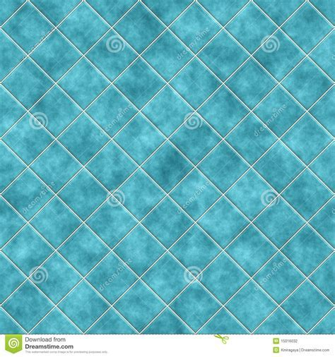 Seamless Blue Tiles Texture Background Stock Illustration