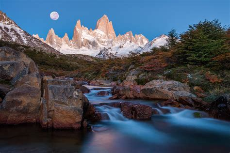 south america argentina patagonia mountain andes peaks