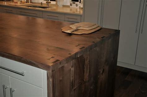 kitchen islands butcher block premium wide plank waterfall style custom