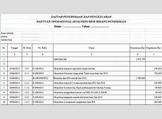Download Contoh Tabel Daftar Penerimaan dan Pengeluaran