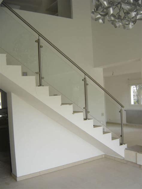 cuisine garde corps d int 195 169 rieur en inox 195 panneaux en verre pour re escalier inox pas cher