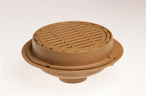 """Medium Duty Floor Drains With 12"""" Round Tops And Sediment"""