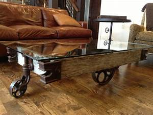 inspirational rustic coffee table with wheels for living With rustic wood coffee table with wheels