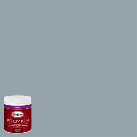glidden premium 8 oz hdgb62d blue grey shadow eggshell interior paint sle with primer