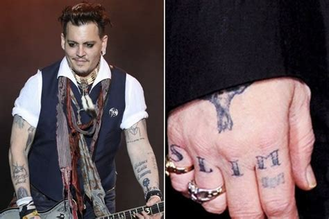 Johnny Depp Has His 'slim' Knuckle Tattoo Altered To 'scum