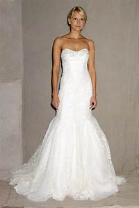Lela rose white lace no strap mermaid wedding dress for No lace wedding dress