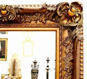 Miroir Baroque Doré : miroir baroque cadre en bois dor 156x95 cm miroirs baroques classic stores ~ Teatrodelosmanantiales.com Idées de Décoration