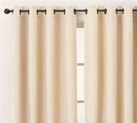 pottery barn peyton linen cotton grommet drapes in french
