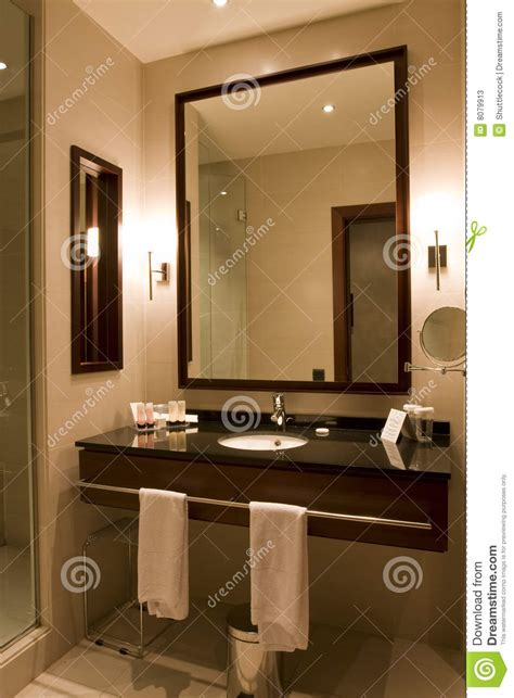 elegant hotel  apartment bathroom stock image image