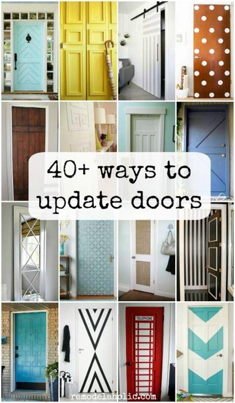 remodelaholic  ways  update flat doors  bifold doors
