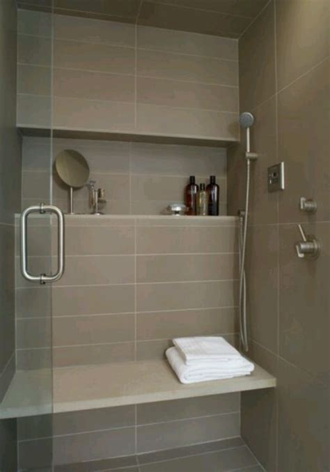 shower shelf large tile bench bathroom