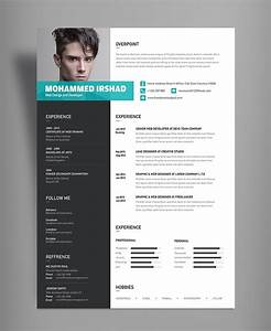 free modern resume cv design template psd file good resume With cv template design