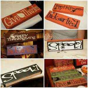 crafts redesigned reversible fall wood signs