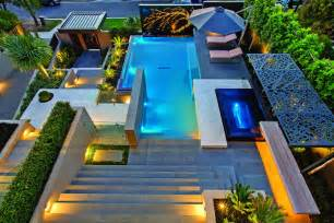 Home Interior Design Melbourne Contemporary Home In Melbourne With Resort Style Modern Landscaping Idesignarch Interior