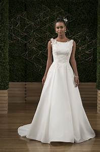 maggie sottero boat neck sleeveless embellished crepe With wedding dress gallery