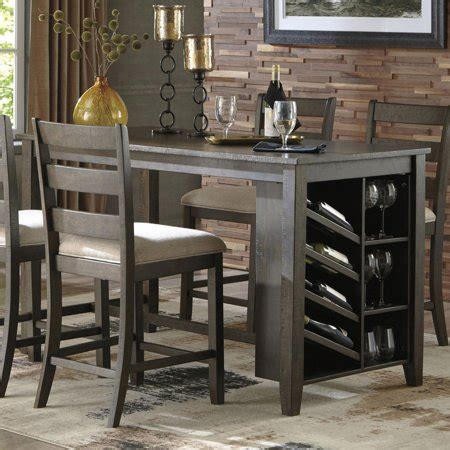 kitchen counter table with storage signature design by rokane counter height dining
