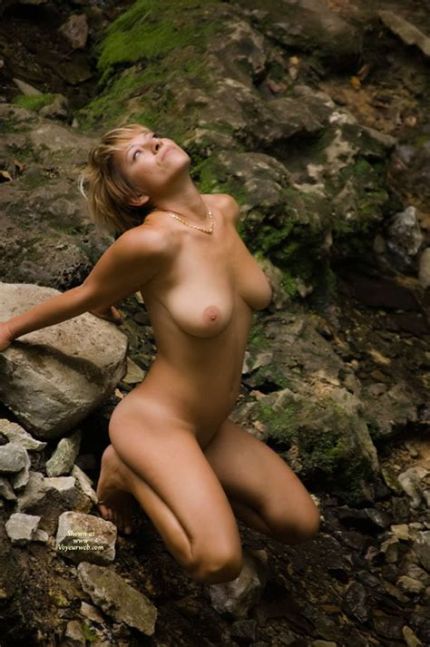 sexy wife nude with nature squatting on rocks november 2009 voyeur web hall of fame