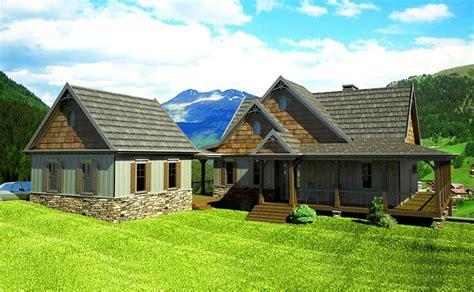 open floor plan  wrap  porch mountain house plans wraparound  mountain houses