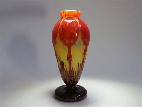 le verre francais le charles schneider le verre francais coprins vase modernism