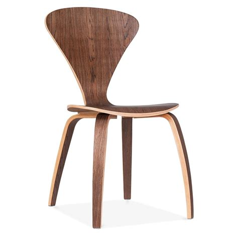 chaise cherner cherner chair in walnut with veneer finish cult uk