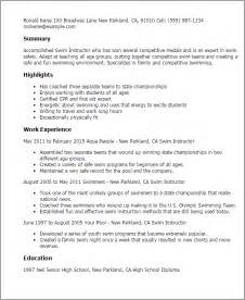 instructor resume objective professional swim instructor templates to showcase your talent myperfectresume