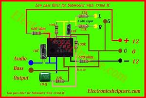 Low Pass Filter For Subwoofer With 4558d Ic