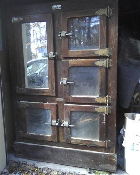 antique butcher shop general store commercial ice box