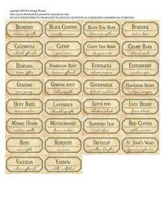 herbal labels images printable labels