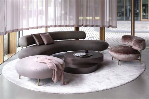 seductive curved sofas modern living room design