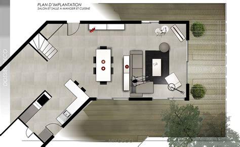 plan de maison avec cuisine ouverte amnagement cuisine ouverte sur salon cuisine ouverte sur