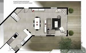 amenagement cuisine ouverte avec salle a manger cuisine With meuble de salle a manger avec amenagement meuble cuisine