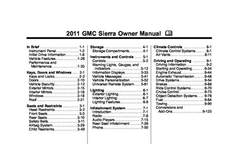 gmc sierra owners manual  give   damn manual