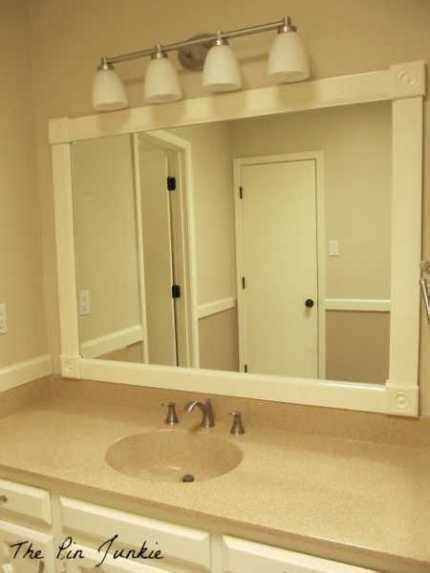 bathroom redecorating ideas framed bathroom mirror redecorating ideas
