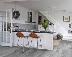 15, Stunning, Grey, Kitchen, Floor, Design, Ideas