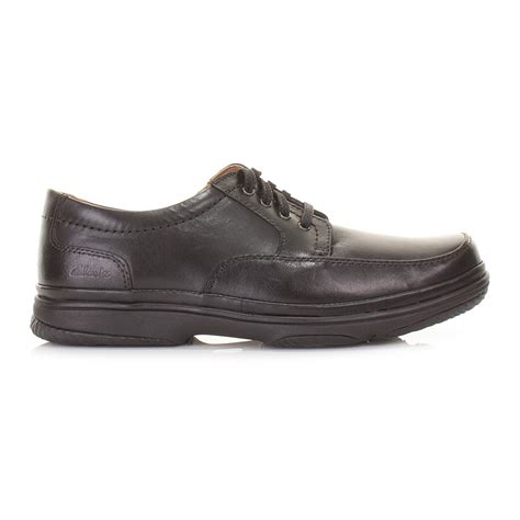 comfortable shoes for work clarks mens black mile wide h fit leather