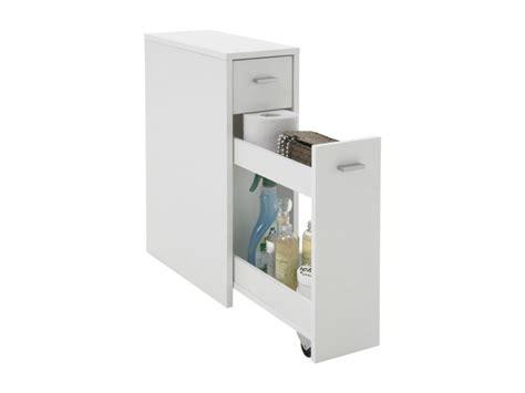 cuisine rangement bain meuble de salle de bain avec tiroir module gigogne bois blanc 20 x 45 x 61 cm conforama