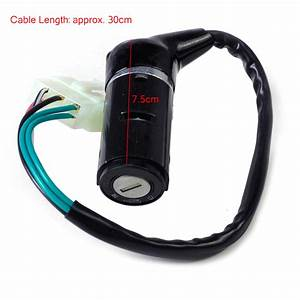 5 Wire Moped Ignition Switch Key Lock Fits Chinese Scooter