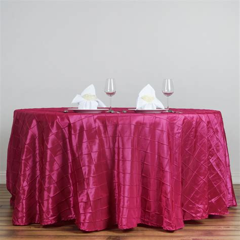 wholesale table linens for weddings 108 quot round pintuck fancy tablecloth wedding party table