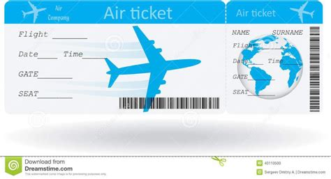 Plane Ticket Template Word