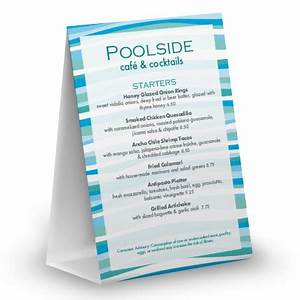 poolside table tent table tent 4x6 table tent With 4x6 table tent template