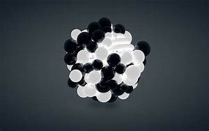 Abstract Black and White Spheres 4K Wallpapers free ...