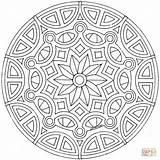 Mandala Coloring Celtic Pages Printable Drawing Mandalas Dot sketch template