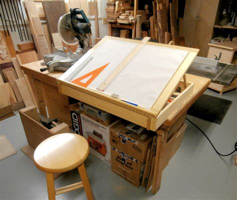 drafting table  storage box max vollmer