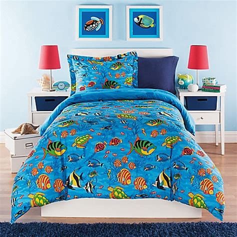 the sea reversible comforter set bed bath beyond - Under The Sea Comforter Set