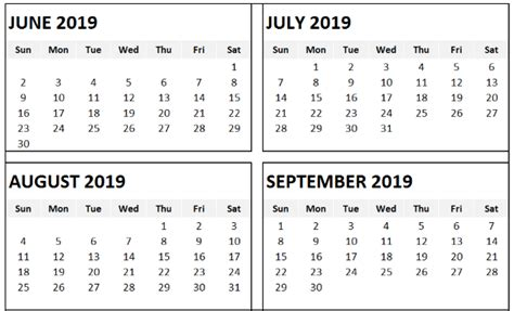 templates printable calendar months page