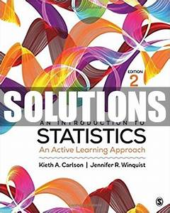 Only  22 Solutions Manual For Introduction To Statistics