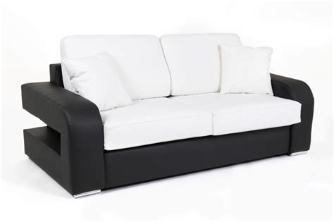 canapé d appoint canape convertible couchage 140 cm alban wilma noir