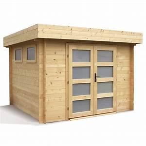 Abri En Bois : abri de jardin bois m ep 28 mm toit plat kivik ~ Edinachiropracticcenter.com Idées de Décoration
