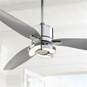 56 U0026quot  Possini Euro Design Modern Ceiling Fan With Light Led