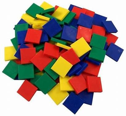 Tile Tiles Plastic Clipart Math Square Manipulatives